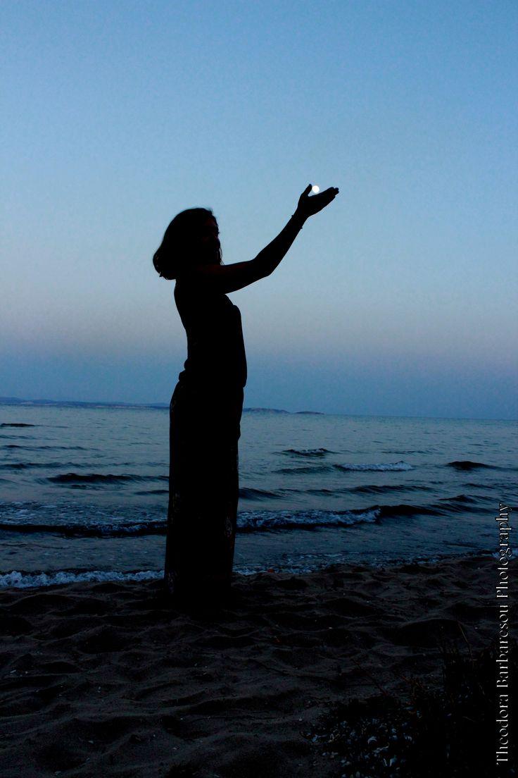 #photograpgy #greece #moon #beach #sunset