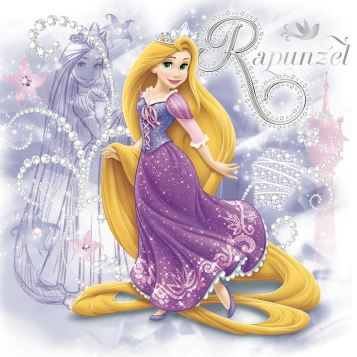 Images of Rapunzel from Tangled.