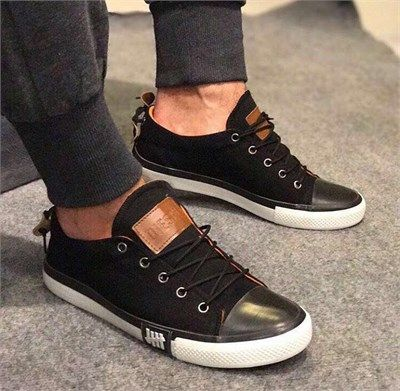 Erkek Günlük Sneakers Spor Ayakkabı Siyah