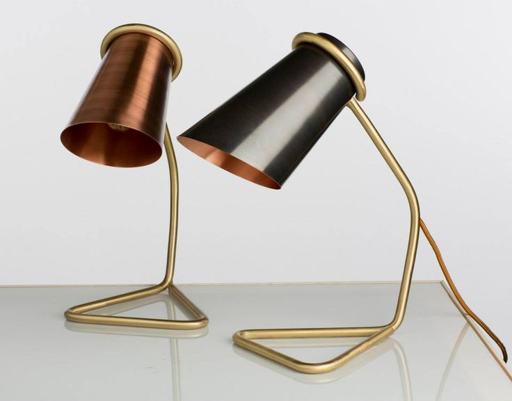 Clancy Moore Architect: Andrew Clancy  Title: 'Leaded & unleaded Strand Lamp Short' Materials: Copper & Brass tubing Dimensions: Short: H 35cm W 17cm CCoI.