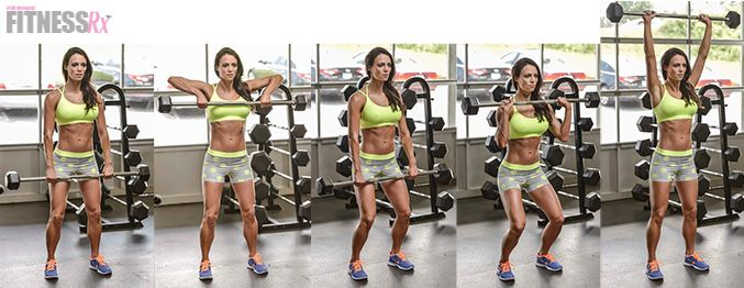 Upright Row To Clean & Press- Blast your shoulders with this finisher