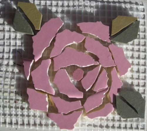 Crafty Stuff: Mosaic Insert Pink Rose: Mosaic made easy!