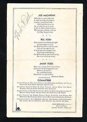 Babe Ruth Autographed Baseball - 1939 Writers Scorecard Beauty!! JSA 8 - PSA/DNA Certified - Autographed Baseballs *** For more information, visit image link.