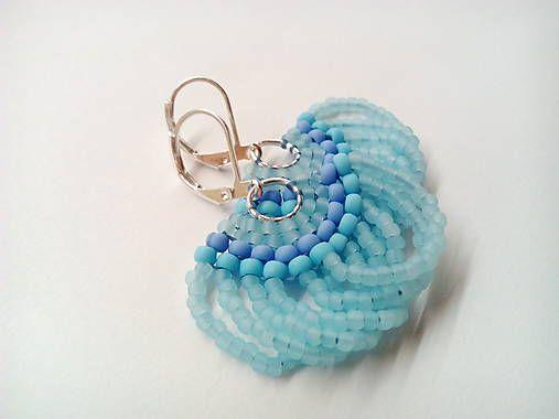 MariN.Art / náušnice vejáriky ľadovo modré