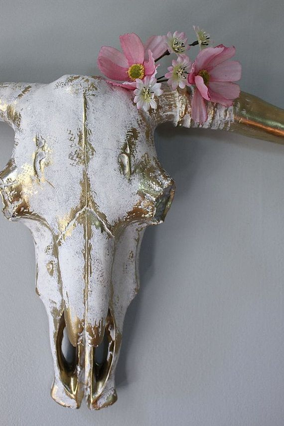 Bull Skull Faux Taxidermy Wall Decor Cow Head Wall by mysecretlite
