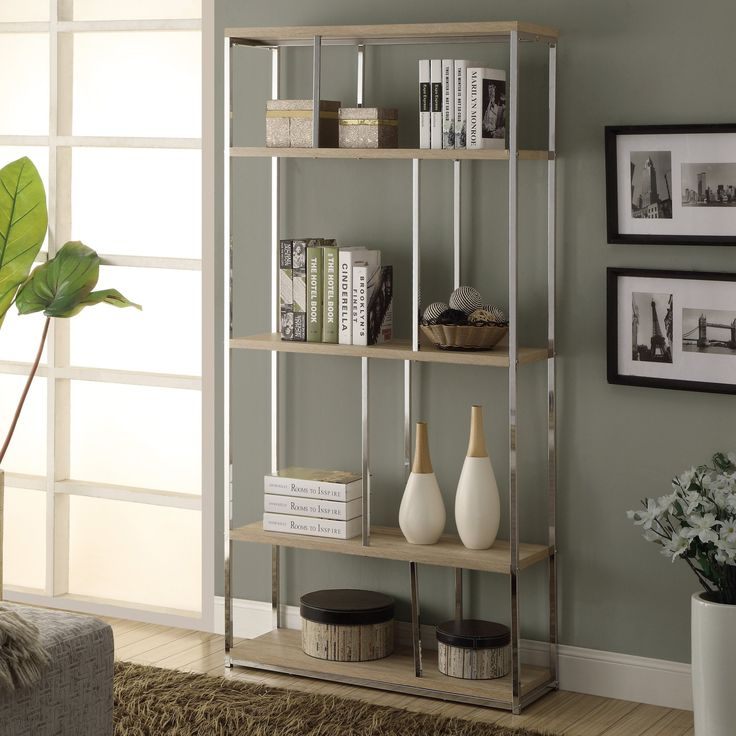 Sleek, modern, and elegant, this metal bookcase defines your style.