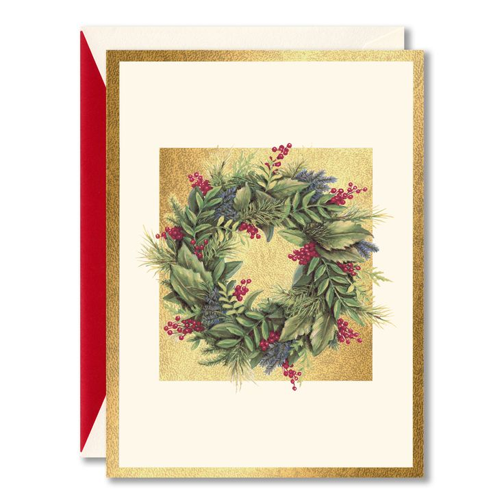 30 best holiday greenery images on pinterest william arthur wreath on gold boxed holiday greeting cards filled with fragrant flora and bit of flair m4hsunfo