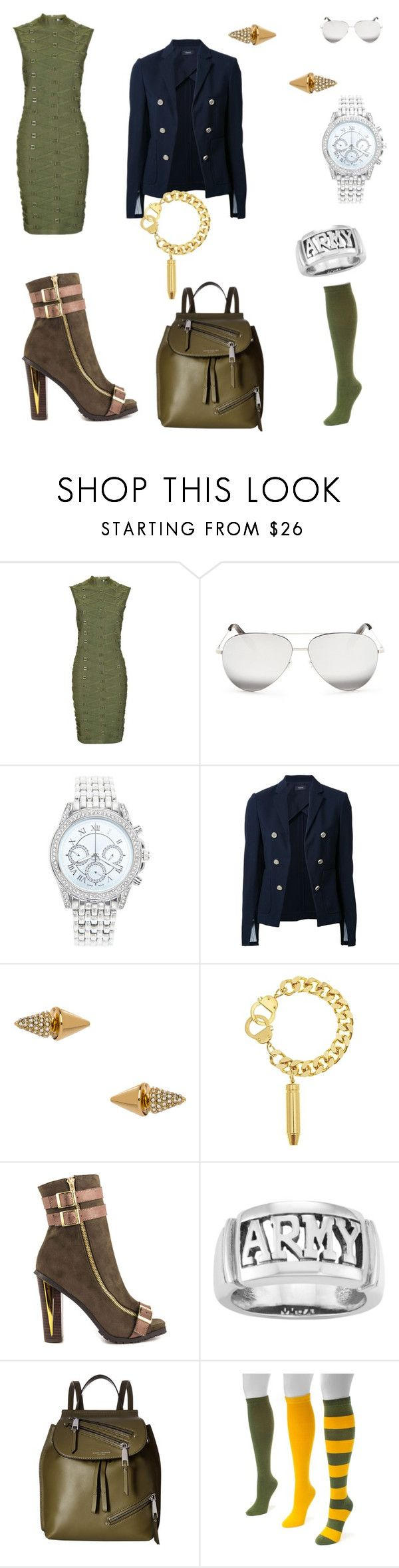 """""""Military style"""" by polina-saleychuk on Polyvore featuring мода, Topshop, Victoria Beckham, Lane Bryant, Theory, Blu Bijoux, Eklexic, Luichiny, Territory и Marc Jacobs"""