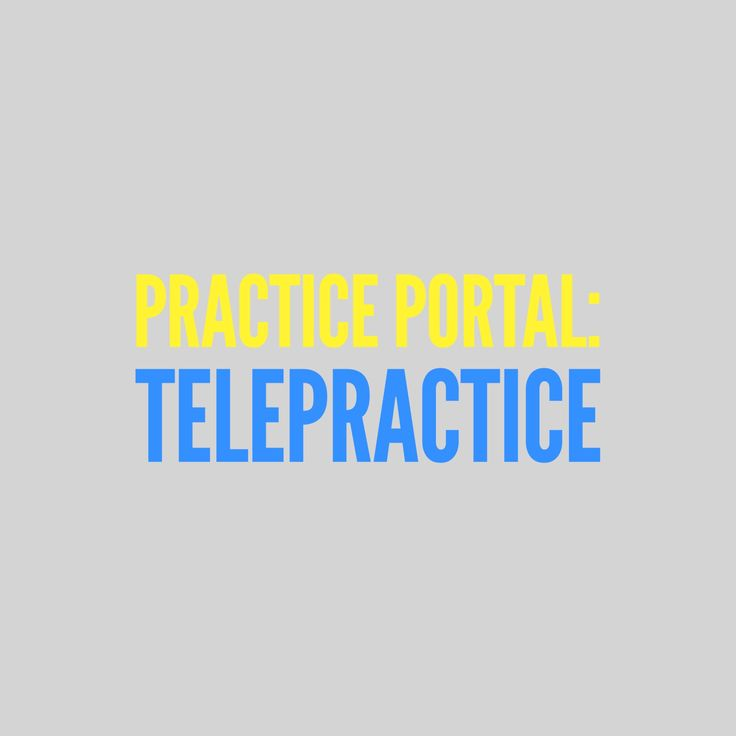 Telepractice: Curated and peer reviewed content on professional issues. #audiology #SLP #telemedicine