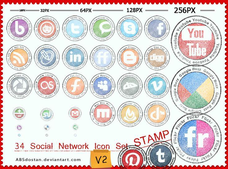 Recursos para el blog: Iconos Redes Sociales