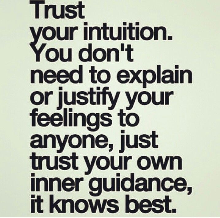 Trust your guts, it never lies. #guts #intuition