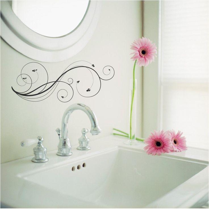 bathroom wall decal swirl 695 via etsy
