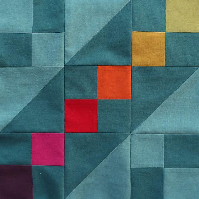 4 Freizeiten: Jacob's Ladder - Der November-Block vom Quilt-Along #6köpfe12blöcke