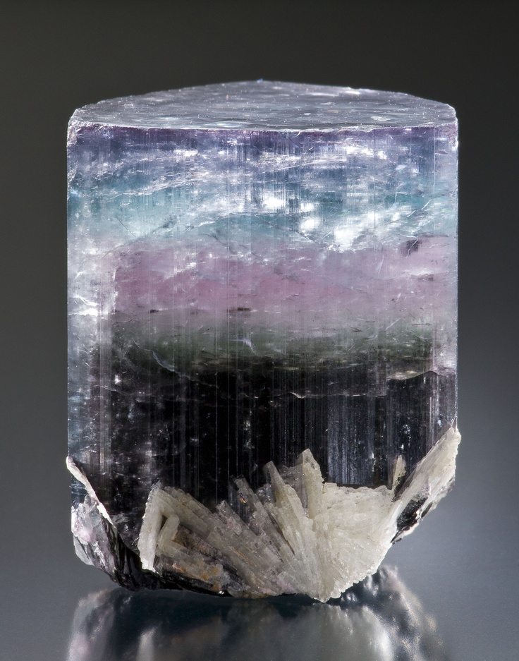 Tourmaline is born in tones of pink, blue, green and even black!