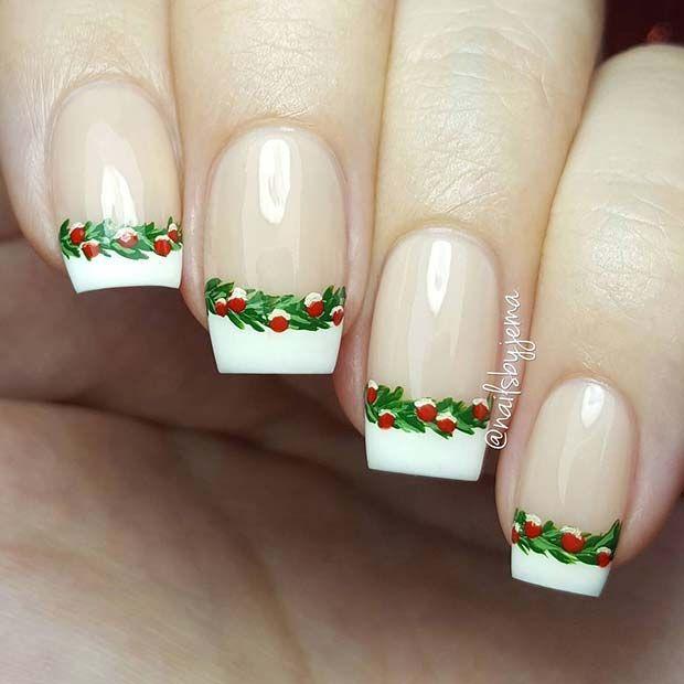Festliche französische Tipps – Fancy nails