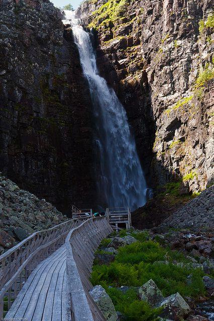 Njupeskär Waterfall in Fulufjället National Park, Sweden: Misticial S Waterfalls, Amazing Nature, Travel, Photo