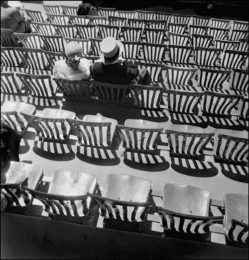 """Werner Bischof - Racecourse, London, 1950 """"Lets face it...we lost. No point just sitting here. We're not going to get the money back!"""""""