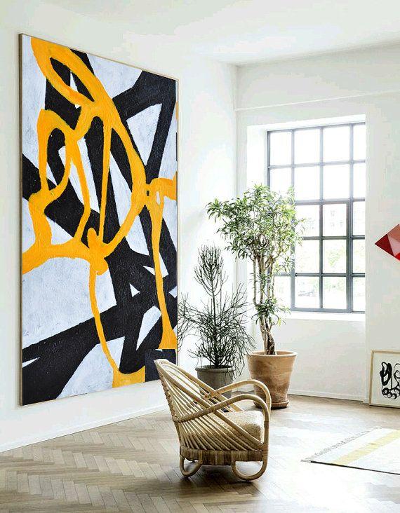 Original Painting Large Abstract Art Hand par CelineZiangArt