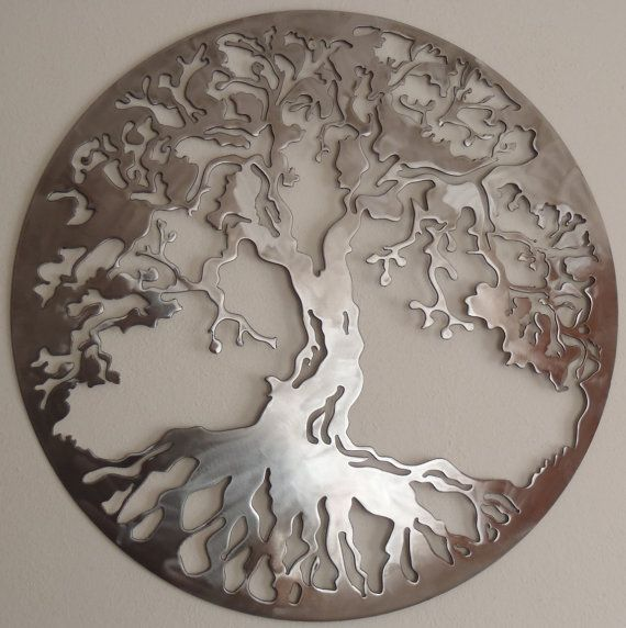 Tree Of Life LARGE Wall decor Metal Art by Tibi291 on Etsy. I think this is lovely!