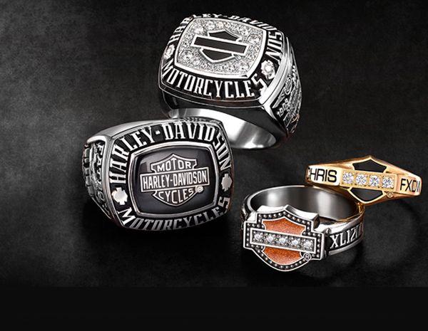 Men Harley Davidson Rings