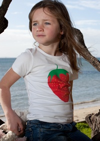 Scratch and sniff strawberry T shirt