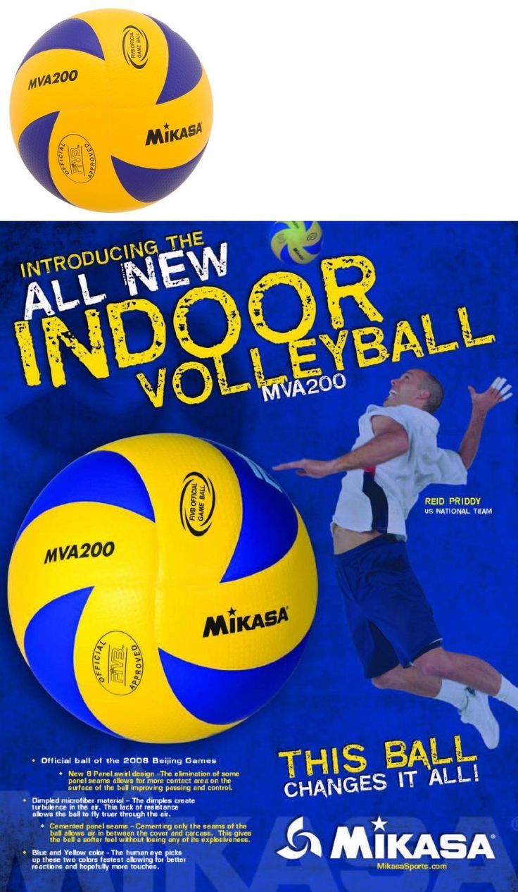 Volleyballs 159132: Mikasa Mva200 2016 Rio Olympic Game Ball (Blue/Yellow) (Mikasa Sports) Brand New BUY IT NOW ONLY: $42.81
