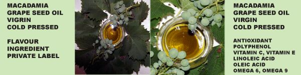 Cold Pressed Grape and Macadamia Seed Oil