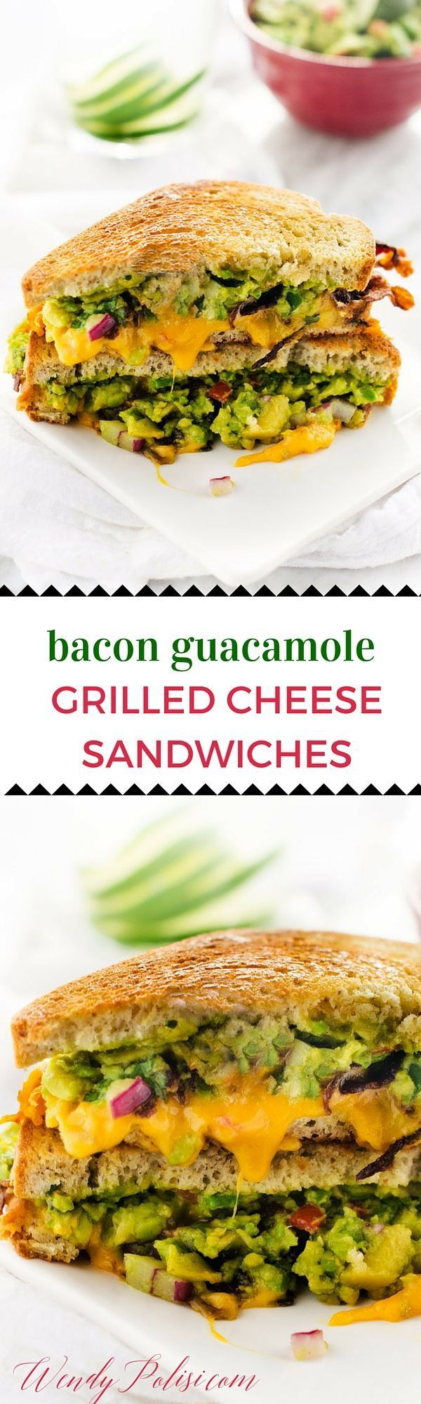 Chips And Guacamole Grilled Cheese Recipe — Dishmaps