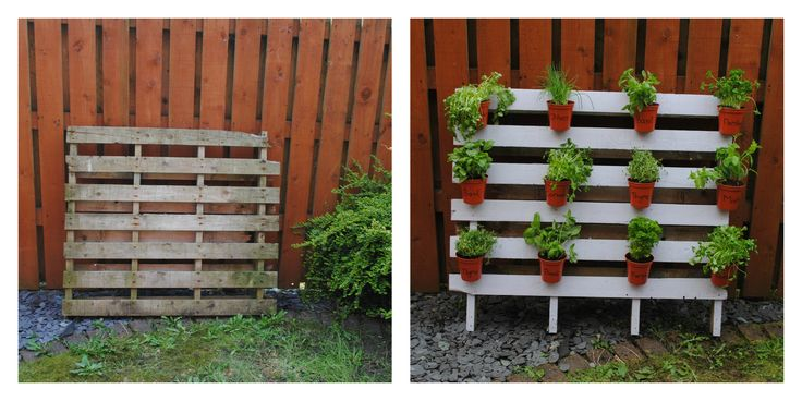 Diy garden space saving diy herb garden gardening for Diy pallet herb garden