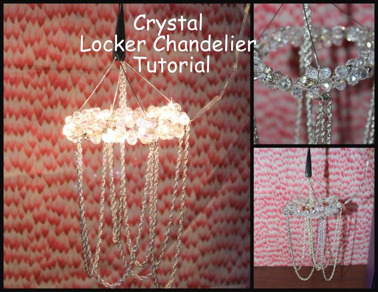 Locker Chandelier Tutorial-Locker Accessories