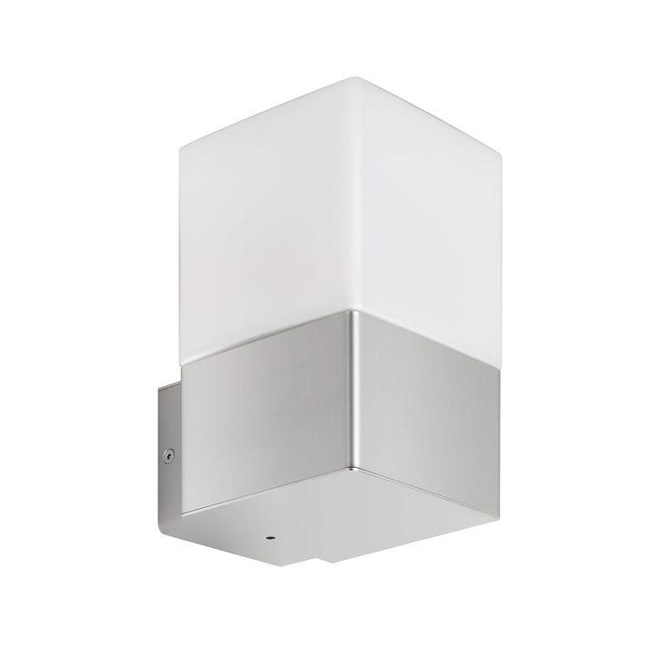 Qualität made in Germany  Opalglas-Diffusor für ein gleichmäßiges Licht  Geschützt gegen Spritzwasser – aus allen Richtungen  Moderne Außenwandleuchte aus hochwertigem Edelstahl  Bestückung mit Energiesparlampen und LED-Retrofits...