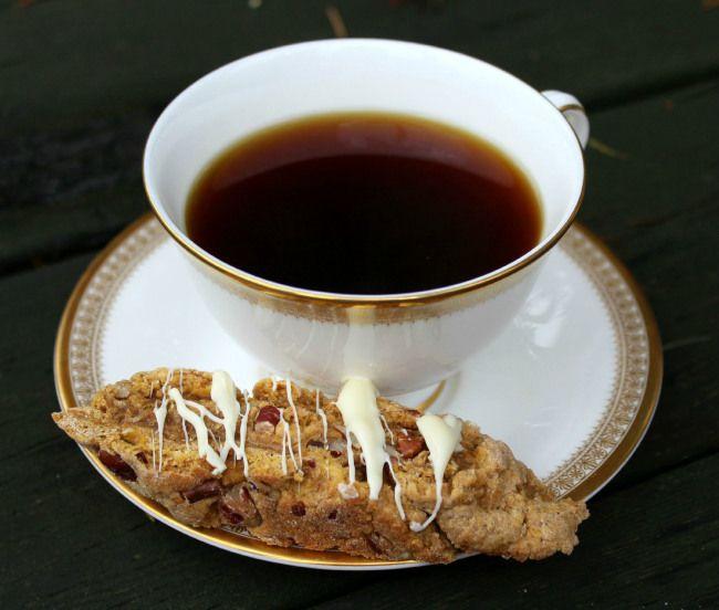 Rustic Pumpkin Biscotti Drizzled With White Chocolate #recipe #pumpkin ...