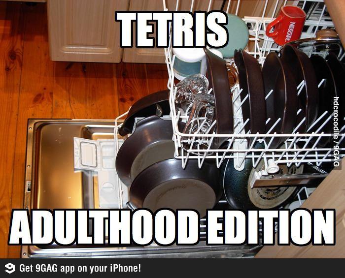 Tetris: Adulthood Edition.