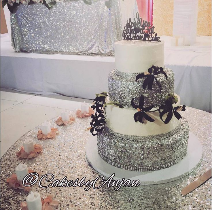 That is one cool cake by Cakes By Anjan! Decor: LUX Affairs Event Design & Decor