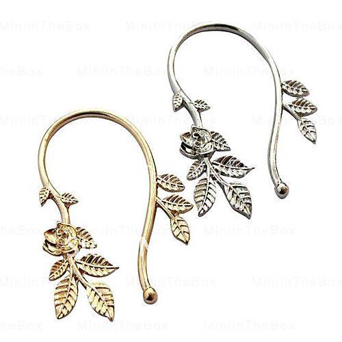 - Europese en Amerikaanse populaire metalen blad oorbellen oorbellen oorhaak oorbellen E119 E253