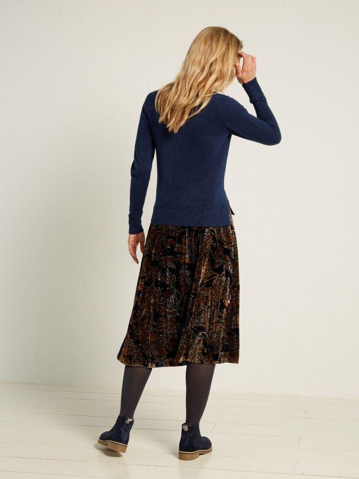 Viola Midi Velvet Skirt
