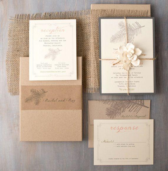 Enchanted Woodland Wedding Inspired Wedding Invitations, Moss Tree - rustic boxed wedding invitations, BeaconLane, Photography kallisonphoto.com