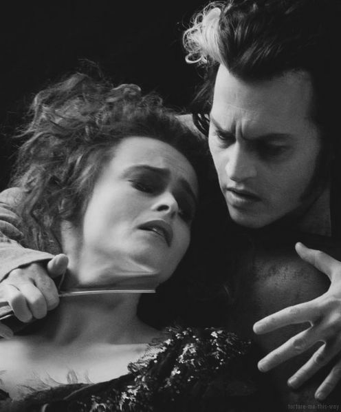 Helena Bonham Carter & Johnny Depp in Sweeney Todd: The Demon Barber of Fleet Street (2007)
