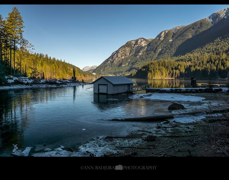 Ann Badjura Photography posted a photo:  View of beautiful Buntzen Lake in Port Moody near Vancouver, British Columbia, Canada  View Larger On Black  Full version : c1.staticflickr.com/1/397/32158612001_806b825100_o.jpg  About this photo We've really been having some kind of winter for the past month. We've had a lot of snow, several cold snaps and the snow is still on the ground which is quite unusual for Vancouver.  It's been pretty frosty and cold with lots of sunshine the last few days…