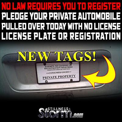Stillness in the Storm : NO Law Requires You To Register or Pledge Your Private Automobile | Pulled over today with no license, license plate, or registration