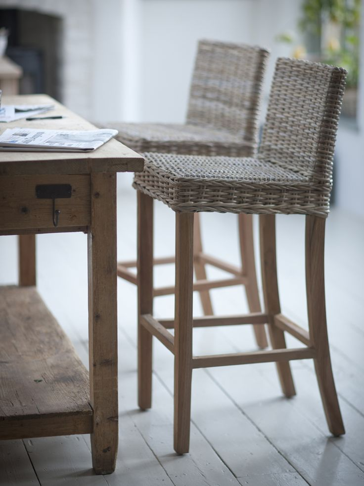 Teak   rattan bar stoolBest 25  Rattan bar stools ideas on Pinterest   Nautical kitchens  . Should Your Bar Stools Match Your Dining Chairs. Home Design Ideas