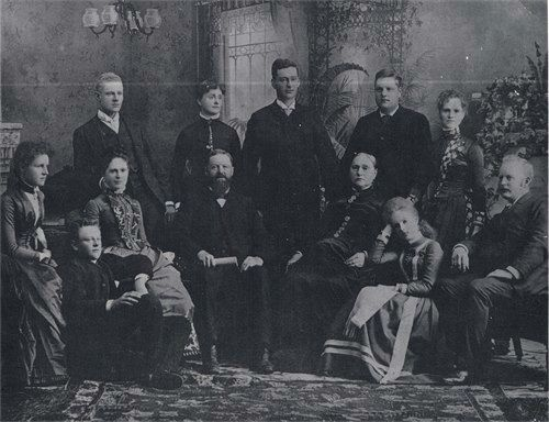 The John McCarthy and Catherine Mahony family of Prescott, Grenville, Ontario, Canada.