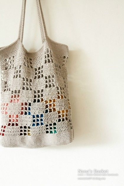 Chunky Crochet Market Shopping Crochet Bags Purses Pinterest