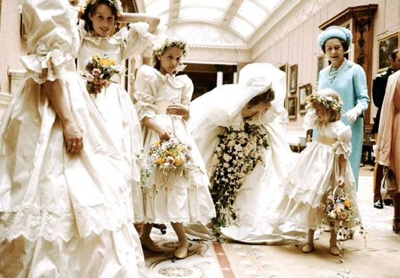 After the wedding at Buckingham Palace, 29 July 1981