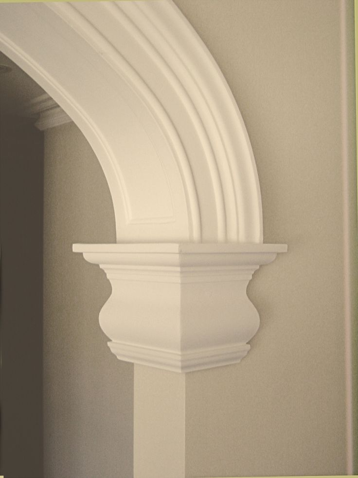 detail of Arch using AS32 plaster strip cut & mitred as a plinth