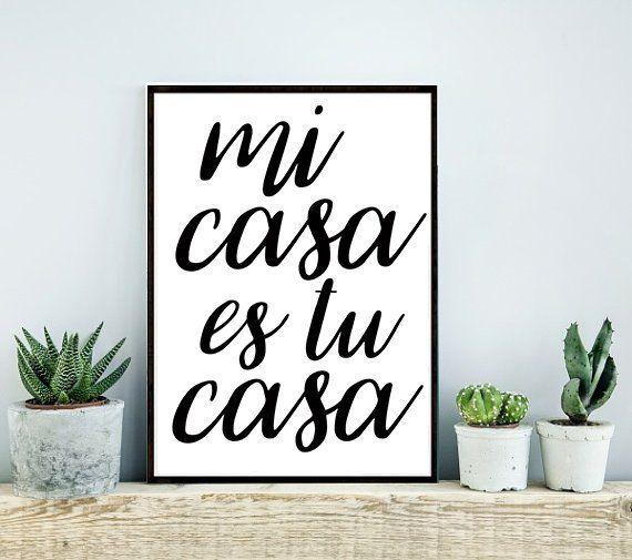 8x10 Mi Casa Es Tu Casa My House Is Your House Calligraphy