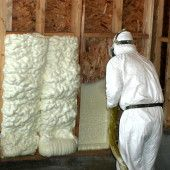 Spray Polyurethane Foam insulation is categorized into two types of products:      Two component open cell foam (ocSPF)     Two component closed cell foam (ccSPF)  SPF is typically applied in two different ways, high and low pressure systems depending on the application.