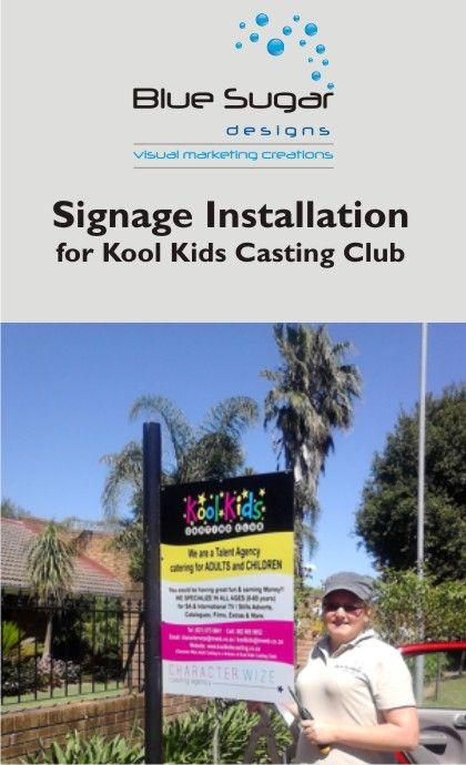 Signage for Kool Kids Casting Club
