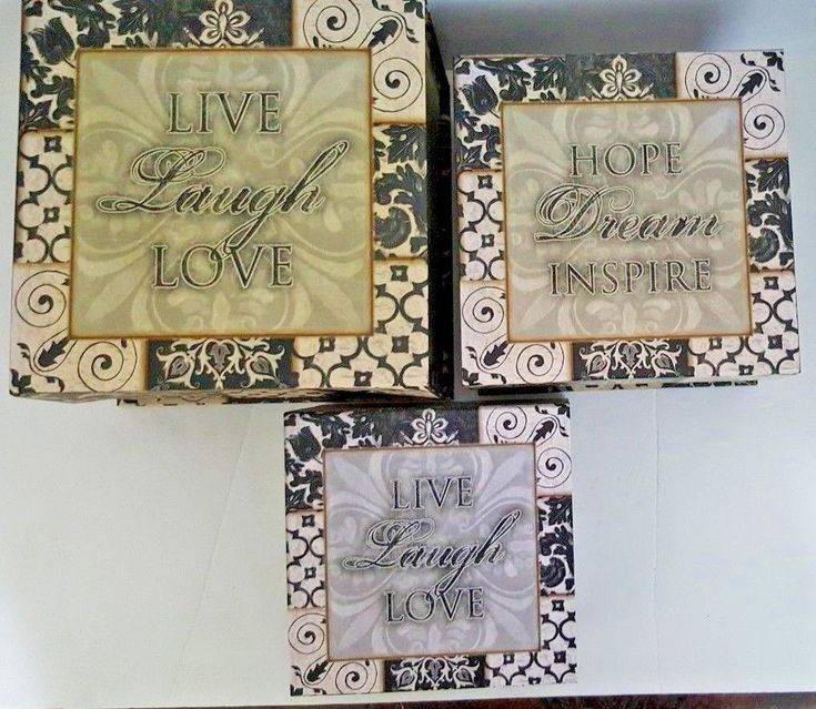 Functional nesting boxes set of 3 decorative top closure