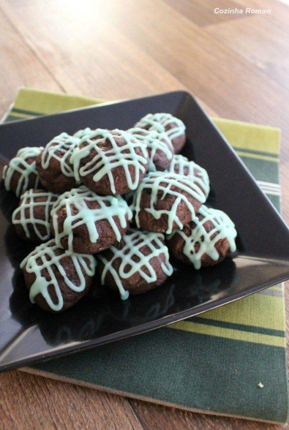 cookies de chocolate e menta